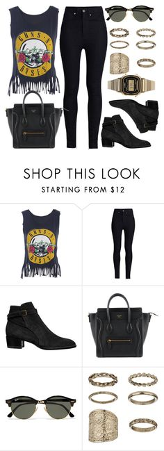 """Style #10428"" by vany-alvarado ❤ liked on Polyvore featuring Rodarte, Yves Saint Laurent, Ray-Ban, Topshop and Casio"
