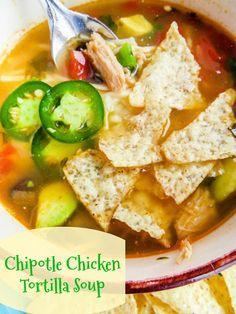 Chipotle Chicken Tortilla Soup Recipe | Yummly