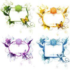 4 Eloquent Floral Butterfly Frames Set - http://www.welovesolo.com/4-eloquent-floral-butterfly-frames-set/