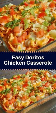 This Dorito chicken casserole is a simple and flavorful meal with a crunchy cheese and Dorito chip topping and crust. This is a casserole the whole family will love! This tasty chicken casserole was shared on Chicken Dorito Casserole Recipe, Easy Casserole Recipes, Doritos Casserole, Mexican Chicken Casserole, Chicken Casserole With Stuffing, Hotdish Recipes, Hamburger Casserole, Chicken Enchiladas, Chicken Breakfast Recipes