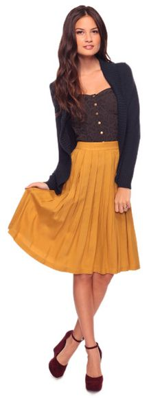 Too bad this skirt would look terrible on me.  I love mustard colored things!