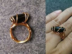 How to make wire simple ring with no perforated stones or crude crystals - YouTube