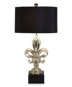 Another great find on #zulily! Silver Fleur-de-Lis Table Lamp #zulilyfinds