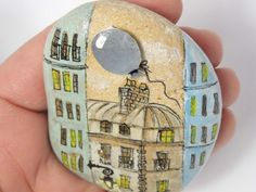RESERVEDOOAK 3D Hand painted pebble original mixed by HappyVillage