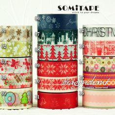 Paper Washi Masking Tape Sticky Adhesive Roll Decorative Craft Gift SOMI XMAS