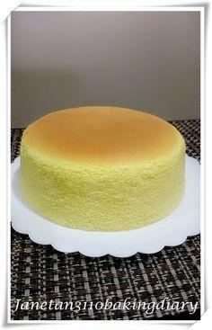 Jane的烘焙记: 百香果轻乳酪蛋糕 / Passion Fruit Cotton Cheesecake