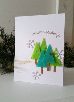 Hello and Happy Thanksgiving to all those who celebrate this holiday! We don't have it here, so today is another day for fun crafts & work:) Today I am sharing a simple Christmas card whe…