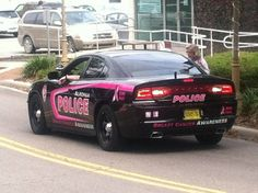 APD Goes Pink car hits the streets of Alachua!  Day 1