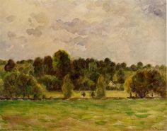 Eragny, Twilight - Camille Pissarro