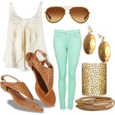 outfit idea for the mint pants