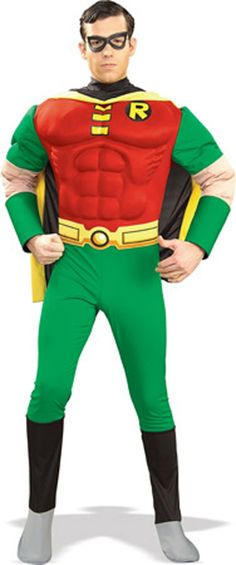 Robin Shirt and Eye Mask Adult Men/'s Costume Multiple Sizes Available