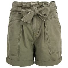 Denim & Supply - Ralph Lauren Olive Paper Bag Shorts., found on polyvore.com