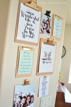 Clip Board Gallery Wall with FREE Printables