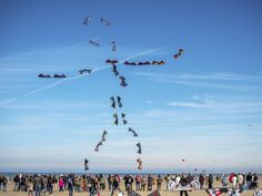 People fly kites during the International Kite Festival in Berck-sur-Mer northern France on April Credit: AFP/Philippe Huguen by theeconomist People Fly, France Photos, Kite, All Pictures, Festival Internacional, Instagram Posts, 30, Southern France, People