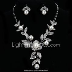 Visit the post for more. Prom Jewelry, Cheap Jewelry, Jewelry Sets, Jewellery, Silver Earrings, Silver Jewelry, Pearl Necklace, Drop Earrings, Engagement Gifts