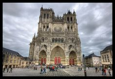 The Cathedral of our Lady of Amiens, Fance - features Pointed Arch Archetecture. (HDR-newaddict, 2012)