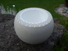 Vasos - Vaso plantador de concreto - um pedaço designer de Petri pedra no DaWanda