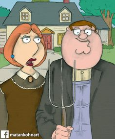 family guy- american gothic