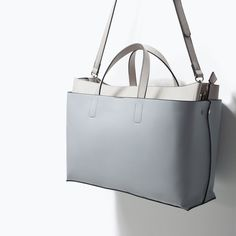 Image 3 of OFFICE CITY BAG WITH DOUBLE BODY from Zara