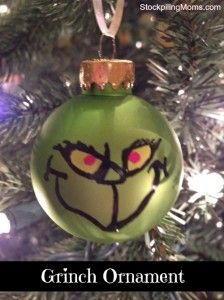 We hosted a How the Grinch Stole Christmas party for Peyton's class room party. It was so much fun and the kids LOVED the theme! These Grinch Ornaments were our favors that we gave to Grinch Christmas Party, Grinch Who Stole Christmas, Grinch Party, Christmas Holidays, Christmas Crafts, Christmas Bulbs, Christmas Decorations, Christmas 2019, Christmas Ideas