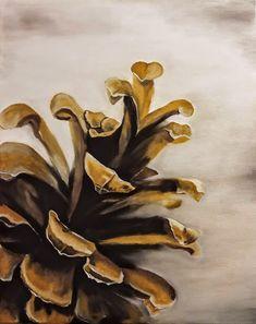 Oil on canvas. Canvas Size, Stuffed Mushrooms, My Arts, Oil, Autumn, Painting, Stuff Mushrooms, Fall Season, Painting Art