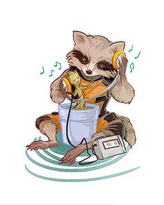 Rocket Raccoon & Groot by Irene Flores