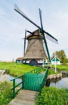 """Dutch windmill  Netherlands.  Stopped at a windmill farm on. """"National Windmill Day"""" on Rhine River Cruise."""