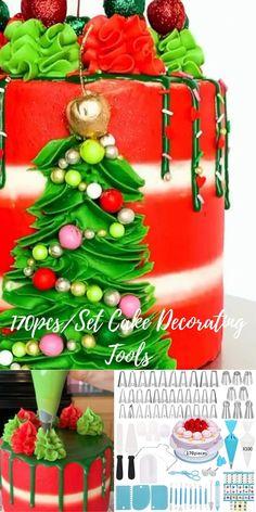 Cake Decorating Frosting, Cake Decorating Videos, Cake Decorating Supplies, Cake Decorating Techniques, Cookie Decorating, Decorating Tips, Christmas Desserts, Christmas Baking, Cake Decorating Turntable