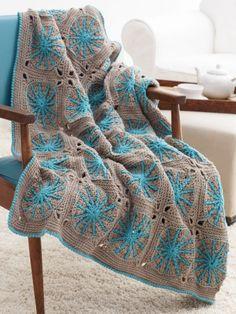 Starburst Blanket | Yarn | Knitting Patterns | Crochet Patterns | Yarnspirations