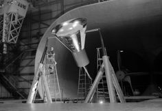 he Mercury space capsule undergoing tests in Full Scale Wind Tunnel, January 1959. (Great Images in NASA)