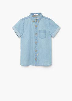 Medium denim shirt | MANGO KIDS