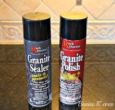 Beaux R'eves: Home Maintenance~Sealing and Polishing Granite