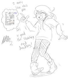 Sketching brush example