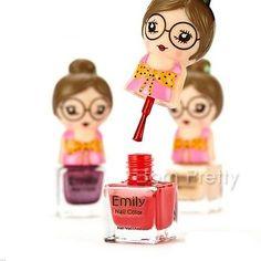1Bottle 7ml Cute Girl Doll Figure Name Eco-friendly Polish Nail Art Varnish
