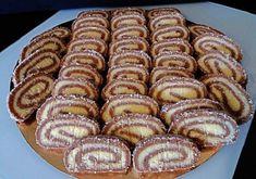 Kókusztekercs, nagyon nagy sikere lett, ezentúl csak így készítem! Apple Pie, Kids Meals, Waffles, Sausage, Food And Drink, Rum, Sweets, Cookies, Baking