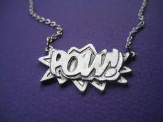 POW Superhero Charm Necklace, Comic hero. $19.00, via Etsy.