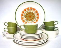 Vintage 1960s Royal China Ironstone Dinnerware by CedarRunVintage, $65.00