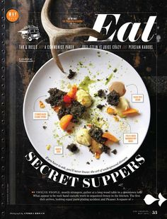 The Secrets Of Great Magazine Cover Design Explained magazine cover design inspiration indesign eat typography Food Design, Menue Design, Web Design, Print Design, Design Editorial, Editorial Layout, Magazine Design, Food Magazine Layout, Typography Design