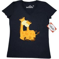 d23d6200e Inktastic Giraffe Mom And Baby Women's V-Neck T-Shirt Adorable Mommy Love  Cuddling Gift Animals Zoo Clothing Apparel Tees Adult
