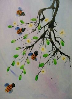 Painting For Kids, Drawing For Kids, Art For Kids, Spring Art, Summer Art, Fun Arts And Crafts, Art Corner, School Art Projects, Preschool Art