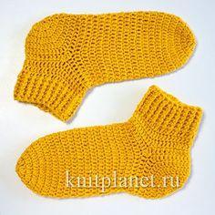Планета Вязания | Вязание носков крючком. Пособие для начинающих. Видео урок по вязанию носков крючком