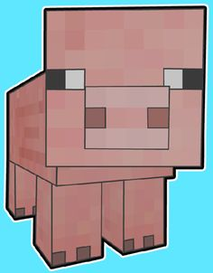 How to Draw Pig From Minecraft with Easy Step by Step Drawing Tutorial  DONE finished drawing.