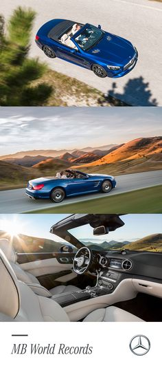 Much like the 300 SLR, which achieved a new record by sustaining an average speed of 99 mph for 10 hours straight at the 1955 Mille Miglia endurance race, the 2017 Mercedes-Benz SL Roadster can also cover countless miles with ease. The car comes with two engine options: a 362-hp V6 biturbo in the SL450, or a 449-hp V8 biturbo in the SL550. Mercedes-AMG SL63 and SL64 variants take the power and performance even higher. Better dust off that checkered flag.