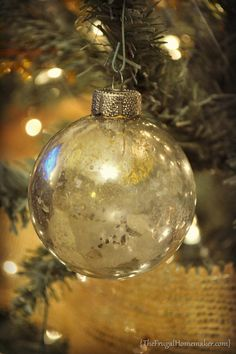 DIY Mercury Glass Ornaments {The Frugal Homemaker} #ornaments #craft #christmas