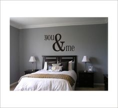 You & Me Large Vinyl Wall Decal Housewares by CustomVinylbyBridge, $30.00