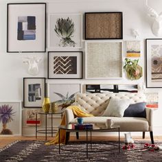 Living room interior | Art inspiration | Clinton Friedman wall art | from West Elm