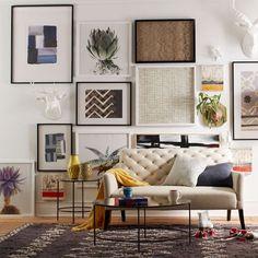 Living room interior   Art inspiration   Clinton Friedman wall art   from West Elm