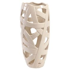 Pairing a contemporary design with a sophisticated silhouette, this openwork ceramic vase is perfect for displaying vibrant blooms and verdant greenery....