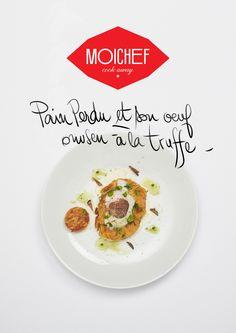 """Pain perdu et son oeuf onsen à la truffe du chef Simon Carlier, restaurant """"Solides"""", à Toulouse"""