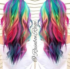 20 Regenbogen-Haar-Bilder, um dem Einhorn-Stamm beizutreten 20 Rainbow Hair Pictures to Join the Unicorn Tribe # # # # # Rainbow # Stem Pelo Multicolor, Different Hair Colors, Bright Hair, Colorful Hair, Rainbow Hair Colors, Bright Pink, Coloured Hair, Unicorn Hair, Dye My Hair